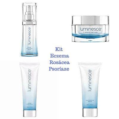 Kit Eczema Rosácea Psoríaze Jeunesse - Tratamento Dermocosméticos  (4 Produtos)