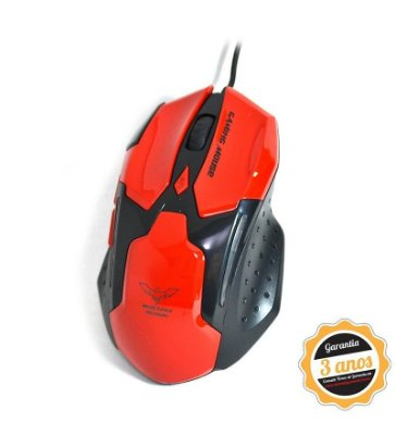 Mouse Gamer Magic Eagle Microdigi 7 botões com Software Macro - Vermelho - MD-MS898