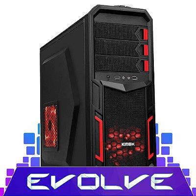 Computador Gamer EVOLVE Intel® Core™ i3 3.70GHZ, 4Gb RAM, Geforce GT 730 2GB, HD 500GB, Gabinete Gamer Kemex