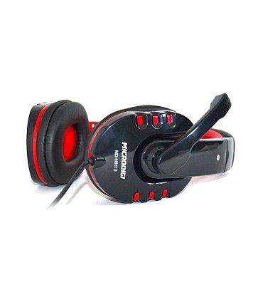 Fone de ouvido Gamer Black+Red Microdigi MD-H611D
