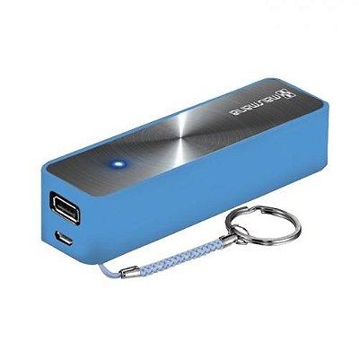 Carregador Portatil Power Bank Azul 2600MAH