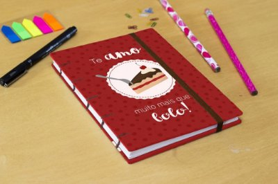 Sketchbook Valentine's - Bolo