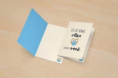 Cartão Valentine's - Coruja