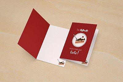 Cartão Valentine's - Bolo