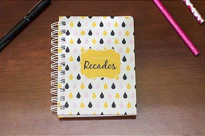Caderno de Anotações Gotas