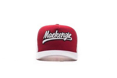 Boné Trucker Mackenzie Branco/Vermelho