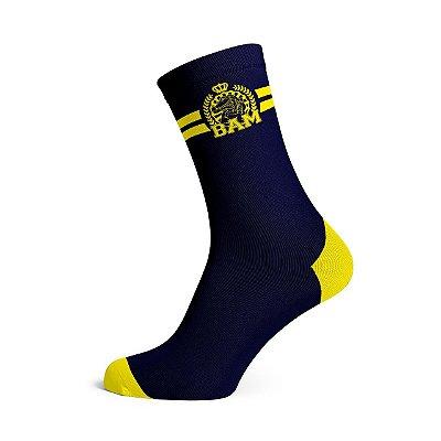 Meia Azul/Amarela BAM