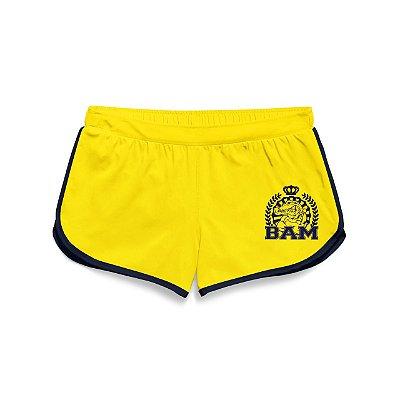 Shorts Feminino Amarelo BAM