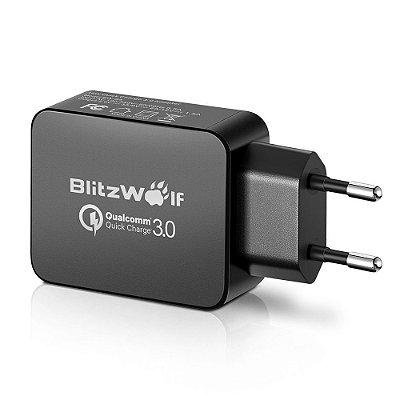 Carregador com Certificado Qualcomm BlitzWolf® BW-S5 QC3.0 18W USB Universal