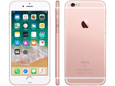 "iPhone 6s Apple 32GB Ouro Rosa 4G Tela 4.7"" - Retina Câm. 12MP + Selfie 5MP iOS 11 Proc. A9"