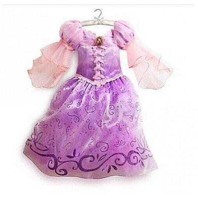 Vestido Fantasia Rapunzel Infantil