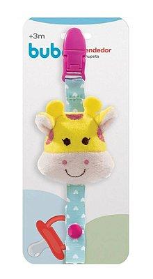 Prendedor De Chupeta Animal Fun Girafinha Buba