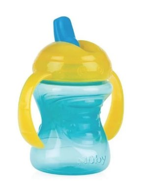Copo Infantil Com Alça E Bico Rigido Retratil Acqua Nûby