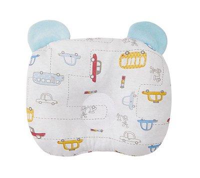 Travesseiro Bebê Anatômico Com Orelhinhas Carros - Papi