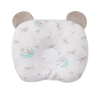 Travesseiro Bebê Anatômico Com Orelhinhas Coelho - Papi
