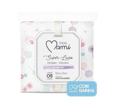 Kit Fralda Super Luxo Mami Com 5 Pçs Rosa Papi