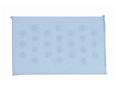 Travesseiro Bebê Espuma Liso Azul Com Furos Papi