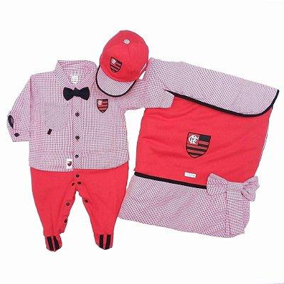 Kit Maternidade Flamengo Luxo Masculino Oficial
