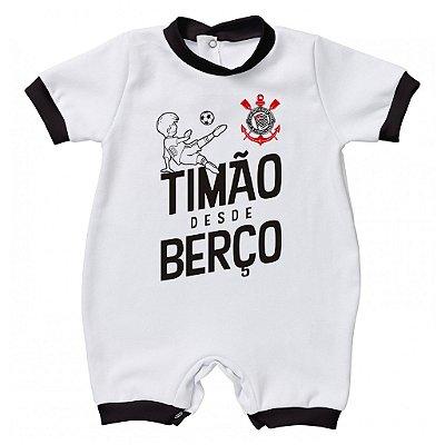 Macacão Corinthians Timão Desde Berço - Torcida Baby