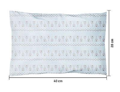 Travesseiro Bebê Estampa Oca Azul 40 x 28cm Papi