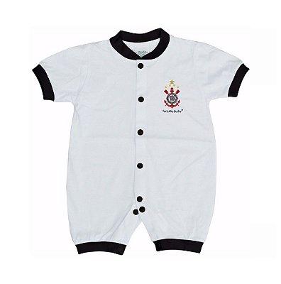 Macacão Corinthians Bebê Curto Malha - Torcida Baby