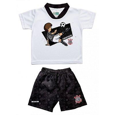 Conjunto Corinthians Infantil Artilheiro - Torcida Baby