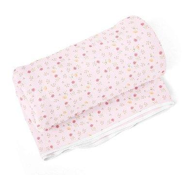 Cobertor Bebê Flanelado Floral Rosa 1,10m X 90cm Papi