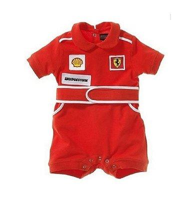 Macacão Bebê Ferrari Manga Curta