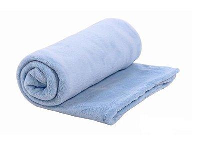 Cobertor Bebê Microfibra Mami Azul 1,10m X 85cm Papi