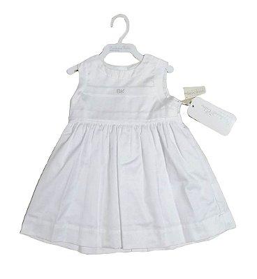 Vestido Bebê Branco Luxo Barbara Kids Strass Batizado