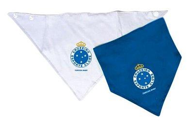 Kit Babador Bandana Cruzeiro 2 Pçs Torcida Baby