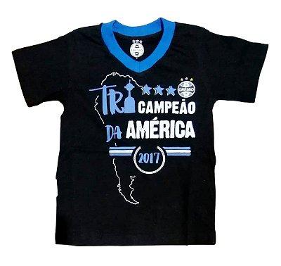 Camisa Infantil Grêmio Tri-Campeão Da América