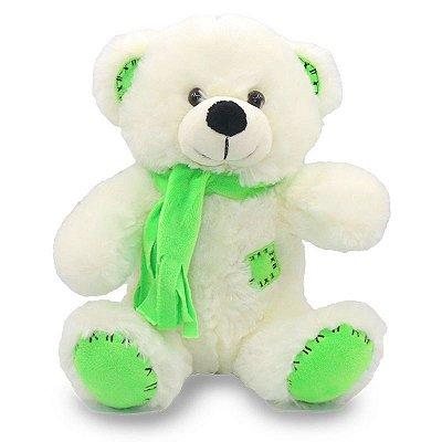 Urso de Pelúcia com Cachecol Verde 25cm Unik Toys