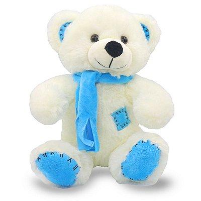 Urso de Pelúcia com Cachecol Azul 25cm Unik Toys