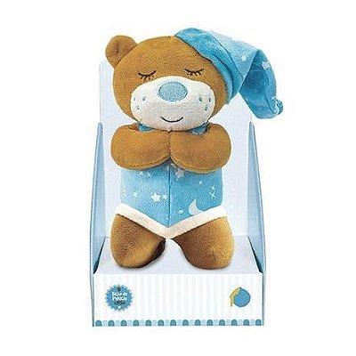Urso de Pelúcia que Ora o Pai Nosso Azul 25cm Unik