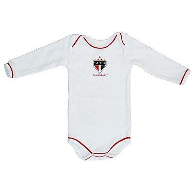 Body São Paulo Longo Branco Torcida Baby Oficial