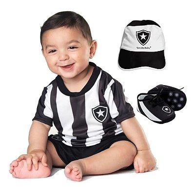 Kit Bebê Botafogo 4 Peças Oficial - Torcida Baby