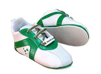 Chuteirinha Bebê Palmeiras Verde e Branca