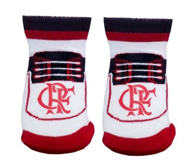 Meia Tênis Bebê Flamengo Revedor