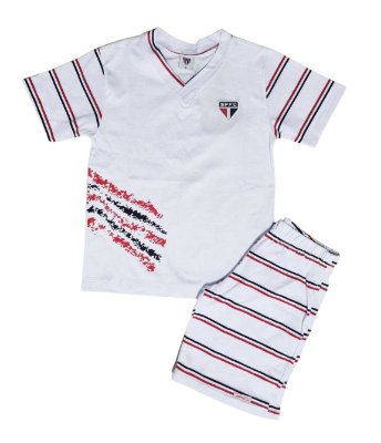Pijama Infantil São Paulo Curto Oficial