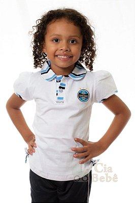 Camisa Polo Infantil Grêmio Feminina Oficial