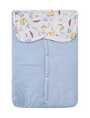 Porta Bebê Acolchoado Carrinho Azul 57 X 35Cm Papi