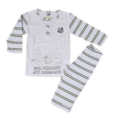Pijama Infantil Santos Longo Oficial