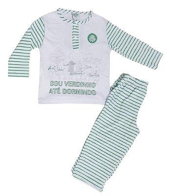 Pijama Infantil Palmeiras Longo Oficial
