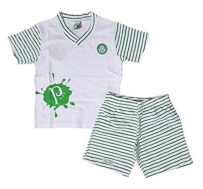 Pijama Infantil Palmeiras Curto Oficial