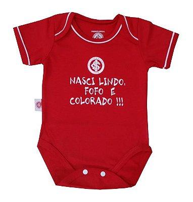 """Body Internacional """"Nasci Colorado"""" Vermelho Revedor"""