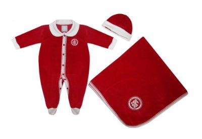 Kit Bebê Internacional Macacão Manta e Gorro Plush - Oficial
