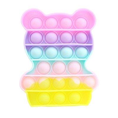 Brinquedo Fidget Toy Pop It Bubble Urso 12cm