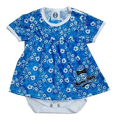 Body Vestido Grêmio Baby Floral Oficial