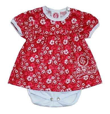 Body Vestido Internacional Baby Floral Oficial